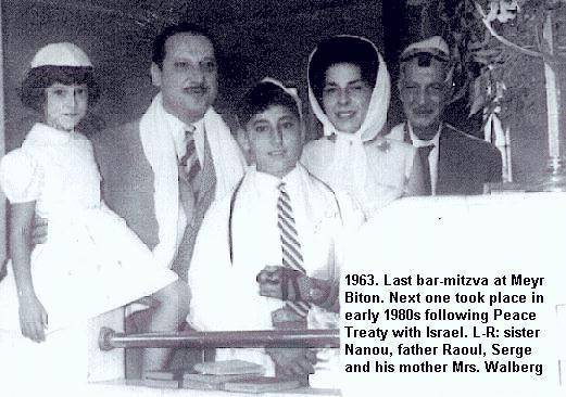 last Egyptian-Jewish bar-mitzva