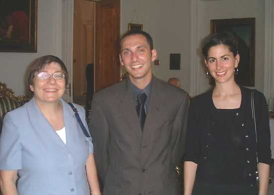 Michele with Aaron Kiviat and Jenny Schulder