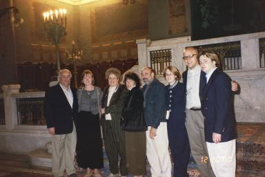 Leon Wahba and family at Ismailia Temple